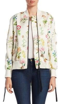 No.21 No. 21 Floral-Print Bomber Jacket