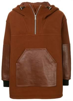 Cerruti panelled hooded jacket