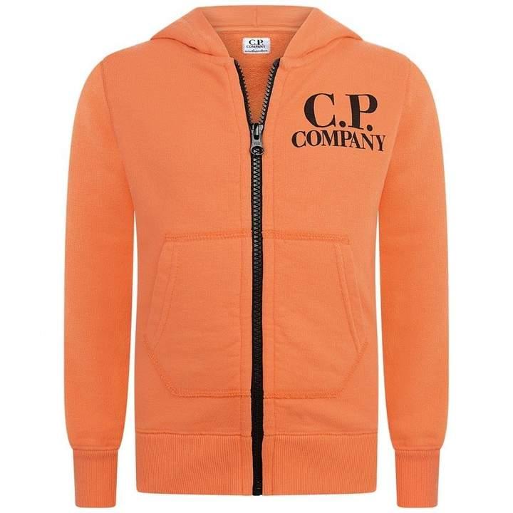 C.P. CompanyBoys Orange Zip Up Top