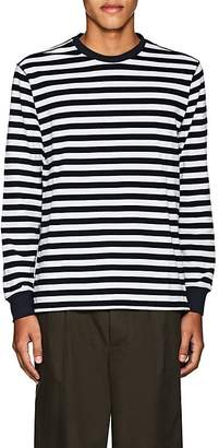 Pop Trading Company Men's Logo Striped Cotton T-Shirt