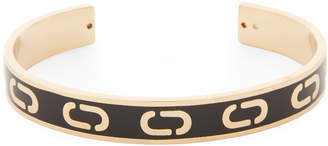 Marc Jacobs Gold-Tone & Black Cuff Bracelet