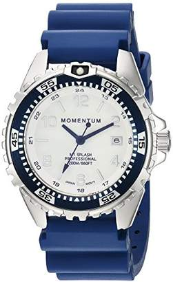 Momentum Women's Quartz Watch | M1 Splash by Momentum| Stainless Steel Watches for Women | Dive Watch with Japanese Movement & Analog Display | Water Resistant ladies watch with Date –Lume / Navy Rubber