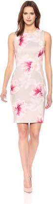 Calvin Klein Women's Scuba Sleeveless Princess Seamed Sheath Dress