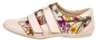 Gucci Flora Canvas & Leather Sneakers