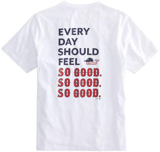 Vineyard Vines Adult Boston Red Sox EDSFSGSGSG Pocket T-Shirt