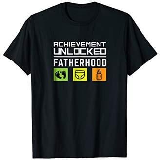 First Time Dad Achievement Unlocked Fatherhood T-shirt