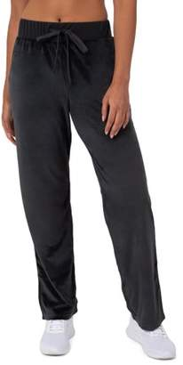 Athletic Works Women's Essential Relaxed Fit Velour Pant with Pockets