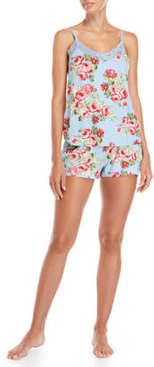 Flora Nikrooz Flora By Two-Piece Cleo Floral Knit Cami & Short PJ Set