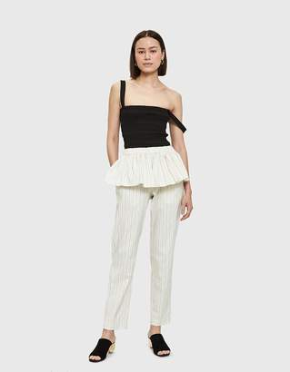 Creatures of Comfort Calder Pant in Cream/Navy