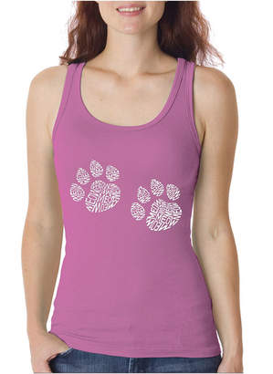 LOS ANGELES POP ART Los Angeles Pop Art Women's Word Art Tank Top - Meow Cat Prints
