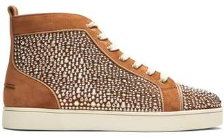 Christian Louboutin Louis Orlato High Top Leather Trainers - Mens - Brown Multi