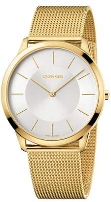 Calvin Klein Minimal Mesh Bracelet Watch, 43mm