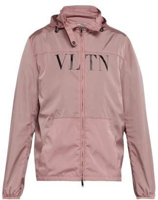 Valentino Vltn Print Windbreaker Jacket - Mens - Pink
