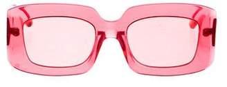 Karen Walker Loveville Translucent Sunglasses w/ Tags