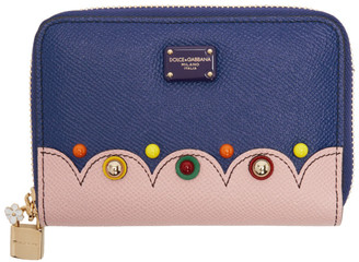 Dolce & Gabbana Blue Small Zip Around Wallet $595 thestylecure.com