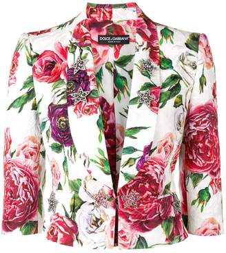 Dolce & Gabbana Peony and Rose print jacket