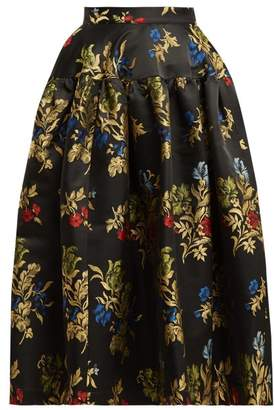 Marques Almeida Marques'almeida - Puffed Brocade Skirt - Womens - Black Multi