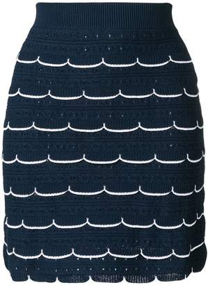 Sonia Rykiel scallop fitted skirt
