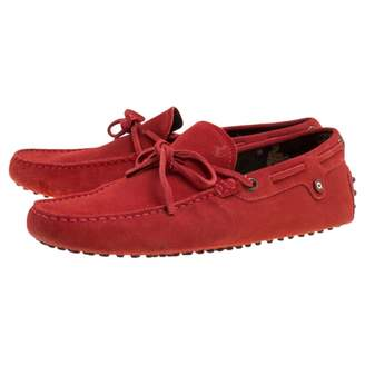 Tod's Red Suede Flats