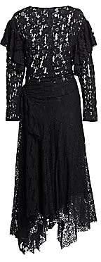 Etoile Isabel Marant Women's Vally Ruffled Lace Midi Dress