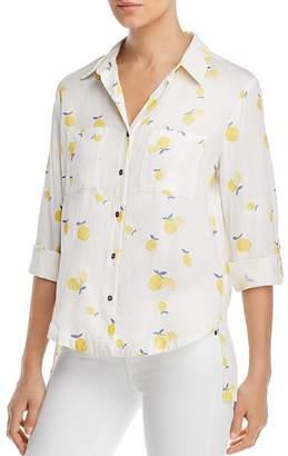 BILLY T Lemon-Print Button-Down Shirt