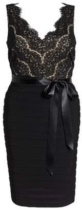 Marina Lace & Pleat Jersey Sheath Dress