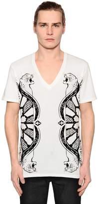 Just Cavalli Leopard Printed Jersey T-Shirt