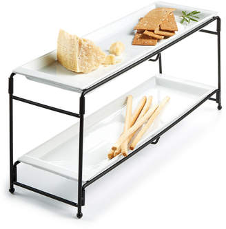 The Cellar Closeout! Whiteware Serveware Long 2-Tier Server, Created for Macy's