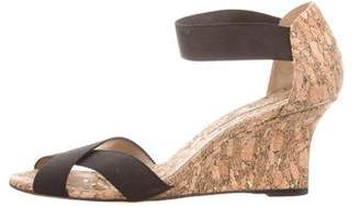 Manolo Blahnik Canvas Crossover Sandals