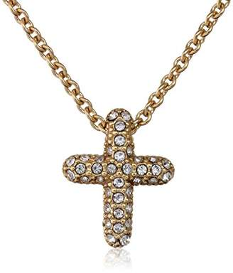 Judith Jack en Class Sterling Silver and -Tone Crystal Marcasite Reversible Cross Pendant Necklace