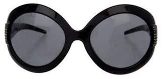 Dolce & Gabbana Embellished Oversize Sunglasses