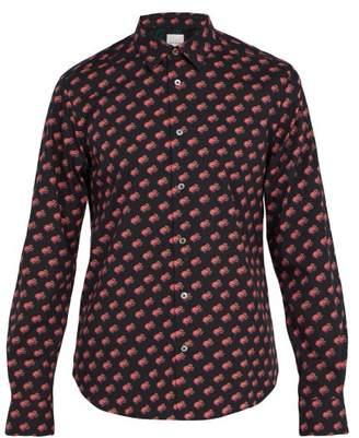 Paul Smith Frog Print Shirt - Mens - Blue Multi