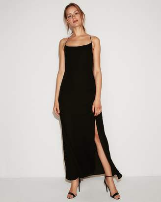 Express Solid Scoop Neck Maxi Dress