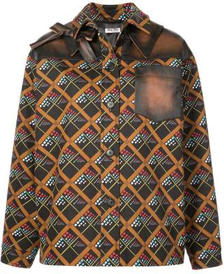 Miu Miu geometric printed shirt