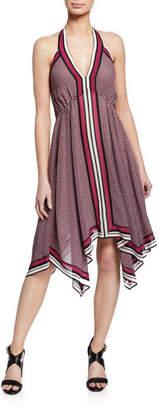 MICHAEL Michael Kors Border Handkerchief Halter Dress