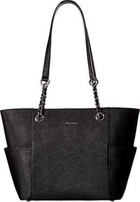 Calvin Klein Key Item Chain Saffiano Tote