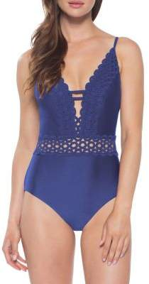 Becca by Rebecca Virtue Siren Shimmer One Piece Swimsuit