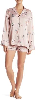 Natori Papillon Print Short Pajama 2-Piece Set