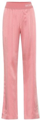 Moncler Wide-leg satin trackpants