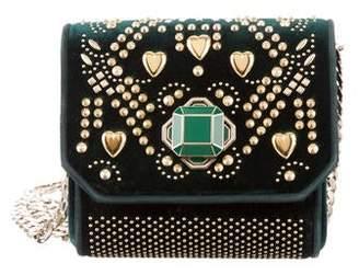 Elie Saab Velvet Studded Bag