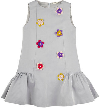 Fendi FENDI FLOWER-APPLIQUÉD SILK-BLEND DRESS $640 thestylecure.com