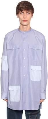 J.W.Anderson Stripes Cotton Long Shirt W/ Pockets