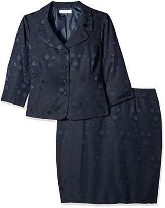 Tahari by Arthur S. Levine Women's Plus Size ASL Jacquard Skirt Suit