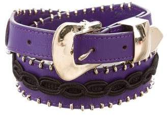 Elie Saab Leather Embellished Waist Belt w/ Tags