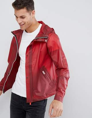 Hunter vinyl windbreaker in red