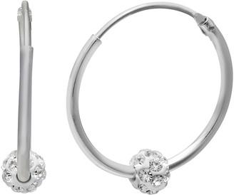 04c670ccde8e clear Primrose PRIMROSE Endless Hoop Crystal Fireball Earrings