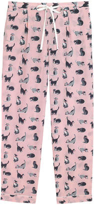 Cath Kidston Painted Cats Long PJ Bottoms