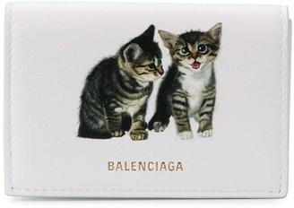 Balenciaga Kitten Ville mini wallet