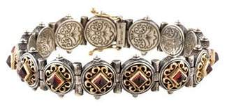 Konstantino Garnet Link Bracelet