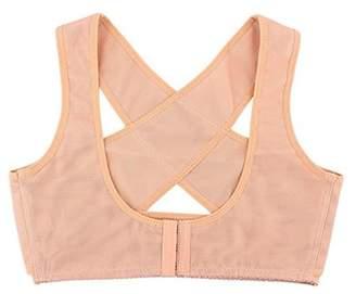 ONLINE Adjustable Back Support Bra Chest Belt Band Posture Corrector Vest X Type Pattern For Women